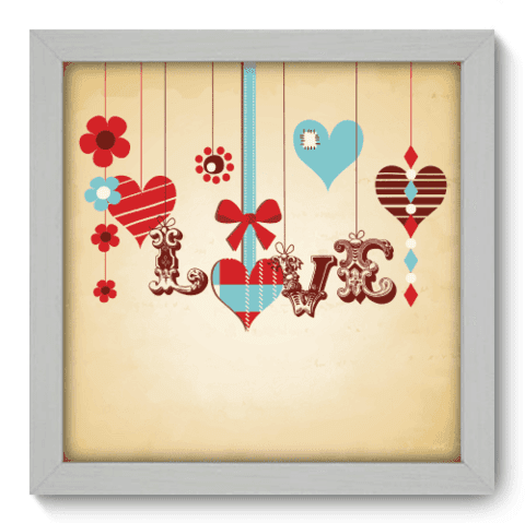 Quadro Decorativo - Love - 010qdob