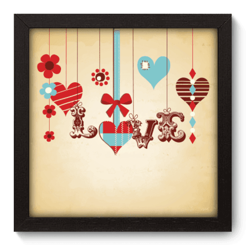 Quadro Decorativo - Love - 010qdop