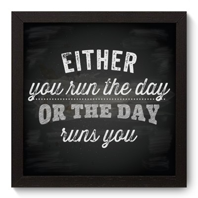Quadro Decorativo - Run the Day - 010qdrp