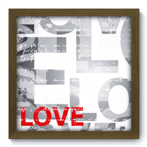Quadro Decorativo - Love - 011qdom