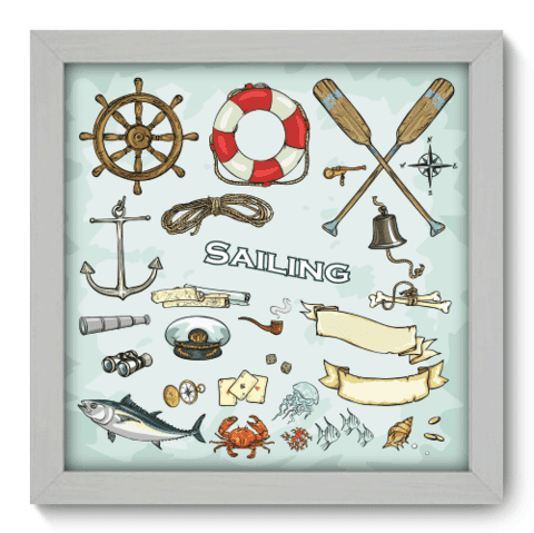 Quadro Decorativo - Sailing - 012qdkb