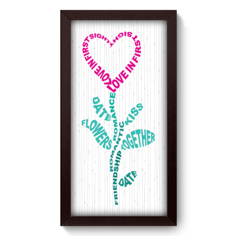 Quadro Decorativo - Words - 012qdop
