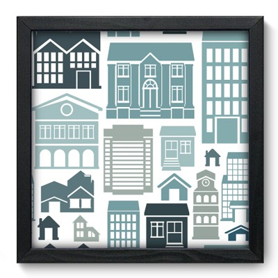 Quadro Decorativo - Houses - 012qdup