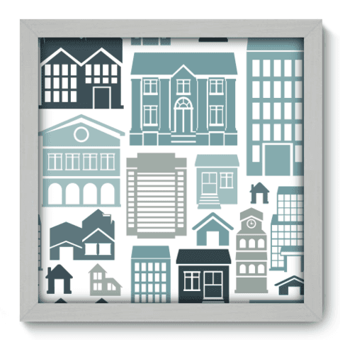 Quadro Decorativo - Houses - 012qdub
