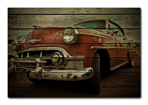 Placa Decorativa - Carros Vintage - 0130plmk