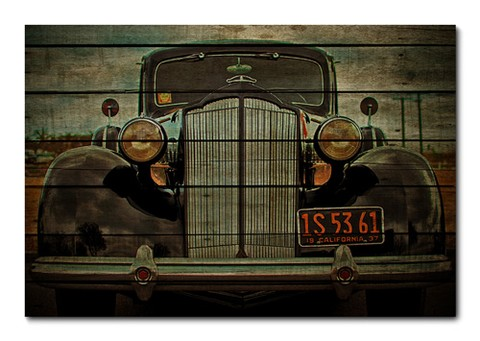 Placa Decorativa - Carros Vintage - 0131plmk