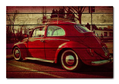 Placa Decorativa - Carros Vintage - 0132plmk