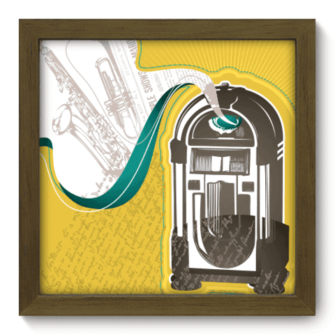 Quadro Decorativo - Jukebox - 013qdgm
