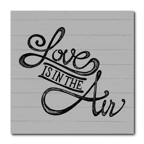 Placa Decorativa - Love Is In The Air - 0144plmk