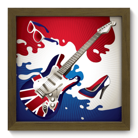 Quadro Decorativo - British - 014qdgm