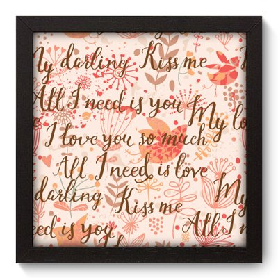 Quadro Decorativo - Kiss Me - 014qdop