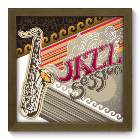 Quadro Decorativo - Jazz - 015qdgm