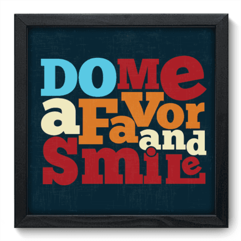 Quadro Decorativo - Smile - 015qdrp