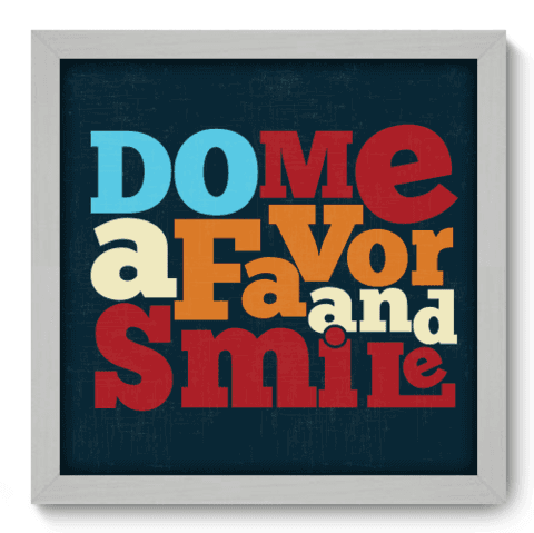 Quadro Decorativo - Smile - 015qdrb