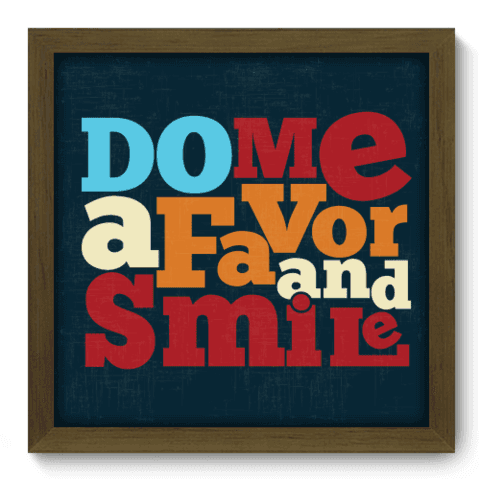 Quadro Decorativo - Smile - 015qdrm