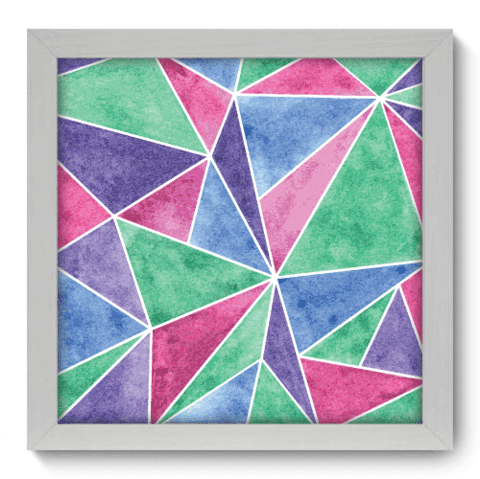 Quadro Decorativo - Triangulos - 016qdab