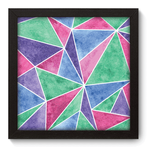 Quadro Decorativo - Triangulos - 016qdap