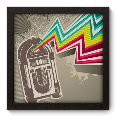 Quadro Decorativo - Jukebox - 016qdgp