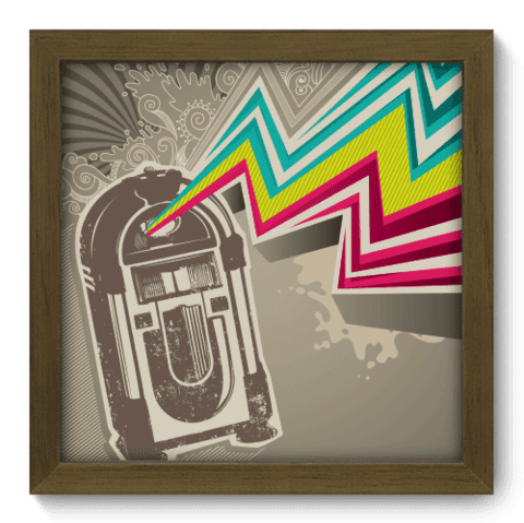 Quadro Decorativo - Jukebox - 016qdgm