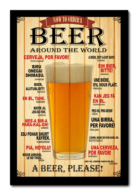 Placa Decorativa - Beer - Cerveja - 0179plmk