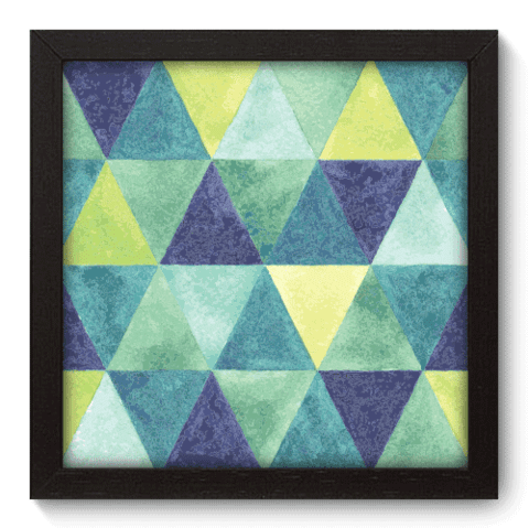 Quadro Decorativo - Triangulos - 017qdap