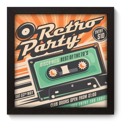 Quadro Decorativo - Retro Party - 020qdvp
