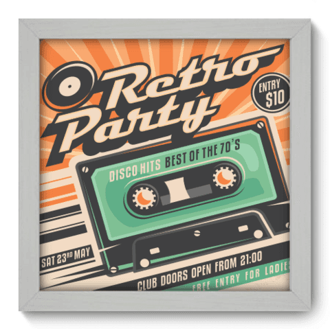 Quadro Decorativo - Retro Party - 020qdvb