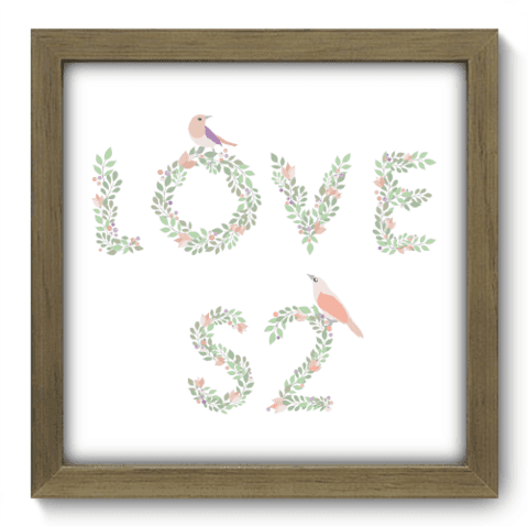 Quadro Decorativo - Love - 022qdom