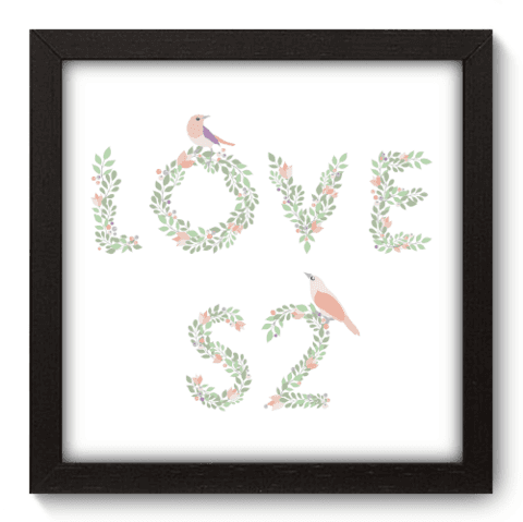 Quadro Decorativo - Love - 022qdop