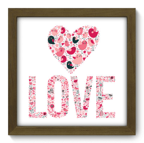 Quadro Decorativo - Love - 023qdom