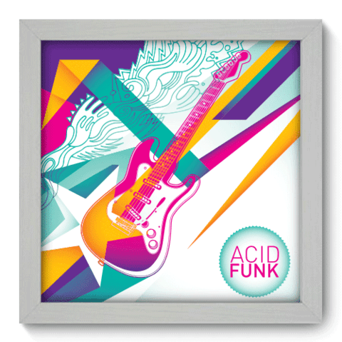 Quadro Decorativo - Acid Funk - 024qdgb
