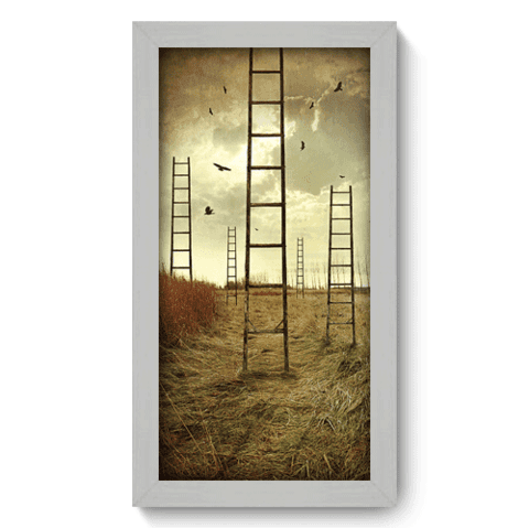 Quadro Decorativo - Escadas - 025qdpb