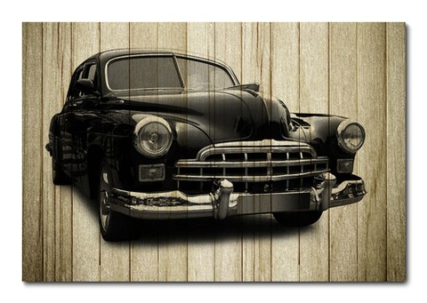 Placa Decorativa - Carros Vintage - 0273plmk