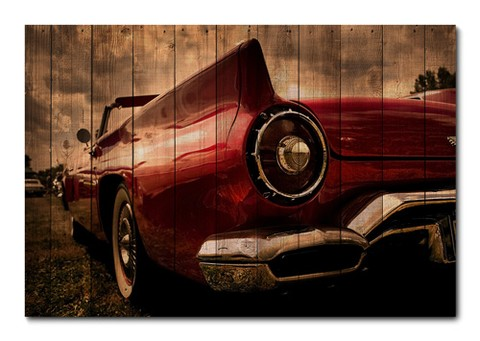 Placa Decorativa - Carros Vintage - 0274plmk