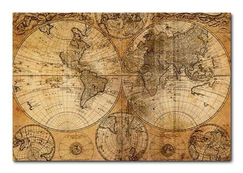 Placa Decorativa - Mapa Mundi - 0280plmk