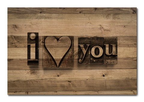 Placa Decorativa - Love - 0288plmk