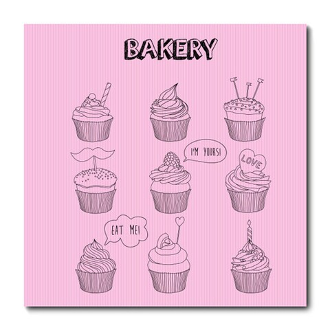 Placa Decorativa - Cupcake - 0294plmk