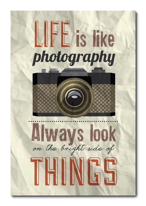 Placa Decorativa - Life is Like Photography - 0300plmk
