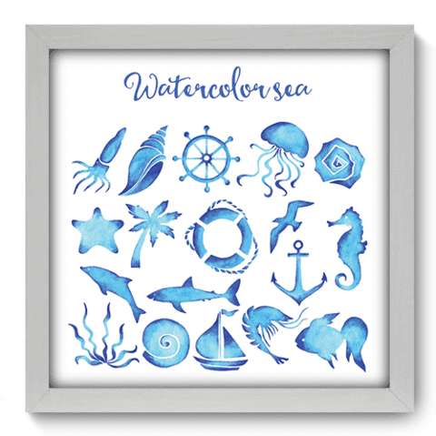 Quadro Decorativo - Watercolor Sea - 030qdkb