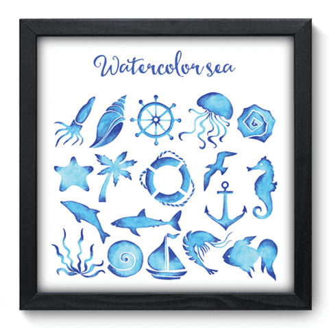 Quadro Decorativo - Watercolor Sea - 030qdkp