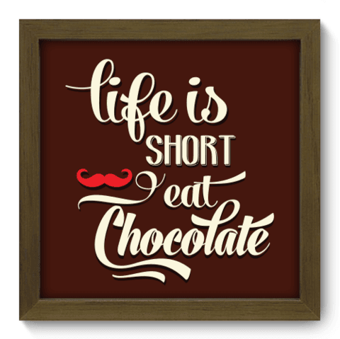 Quadro Decorativo - Eat Chocolate - 030qdrm