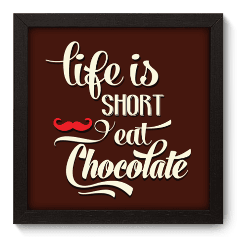 Quadro Decorativo - Eat Chocolate - 030qdrp