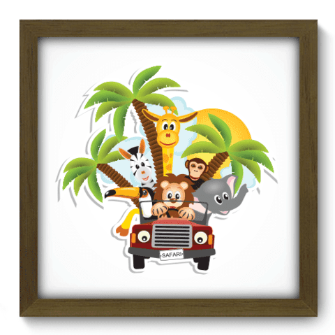 Quadro Decorativo - Safari - 031qdbm