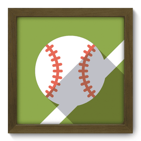 Quadro Decorativo - Baseball - 031qdem