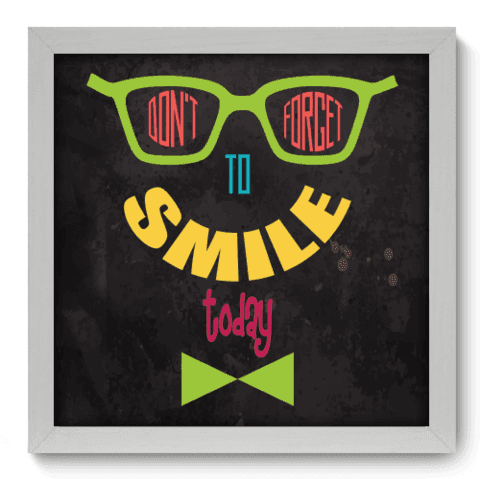 Quadro Decorativo - Smile - 032qdrb