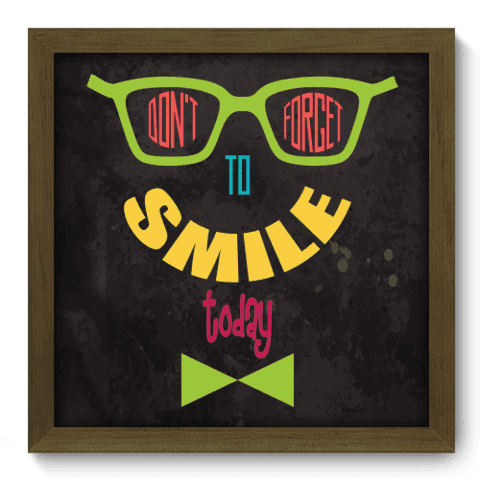 Quadro Decorativo - Smile - 032qdrm