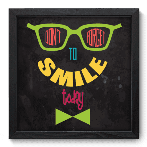 Quadro Decorativo - Smile - 032qdrp