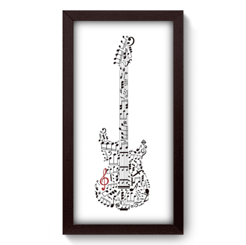Quadro Decorativo - Guitarra - 033qdgp