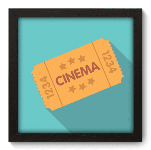 Quadro Decorativo - Ticket - 033qdhp