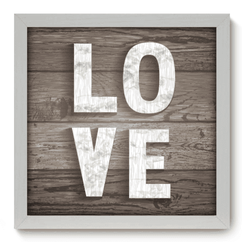 Quadro Decorativo - Love - 033qdob